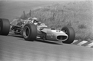 1968 Dutch Grand Prix - Race winner Jackie Stewart during the race