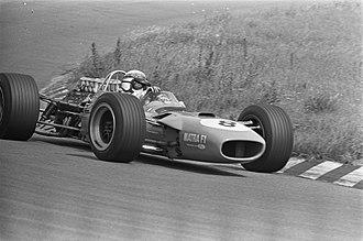 1968 Dutch Grand Prix - Race winner Jackie Stewart during the race