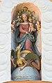 Stift Griffen Pfarrkirche Mariae Himmelfahrt W-Portal Supraporte Madonna della Vittoria 22102015 1858.jpg