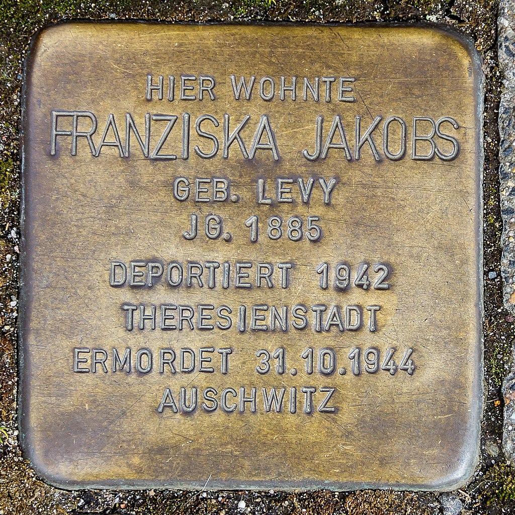 Stolperstein Franziska Jakobs