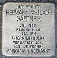 Stolperstein Karlsruhe Hermann Meilach Gärtner 2014.jpg