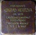 Stolperstein Salzburg, Konrad Hertzka (Wolf-Dietrich-Straße 18).jpg