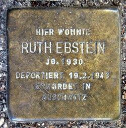 Photo of Ruth Ebstein brass plaque
