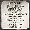 Stolperstein für Dr. Johanna Geissmar (Heidelberg).jpg