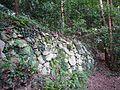 Stone wall of Tachibana Castle Ruins.jpg