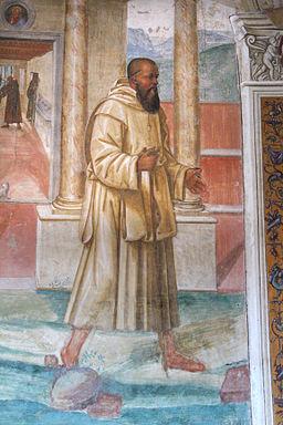 Storie di s. benedetto, 10 sodoma - Come Benedetto spezza col segno della croce uno bicchiere avvelenato 04