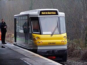 Stourbridge Junction railway station - A Class 139 unit under trial at Stourbridge Junction, 28 January 2009.
