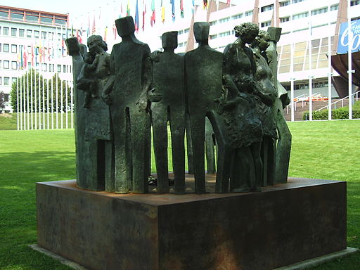 Strasbourg Europarat Denkmal