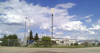 Refinery Row (Edmonton) - Imperial Oil looking northeast from the 3014 Baseline Road entrance, in June 2010.