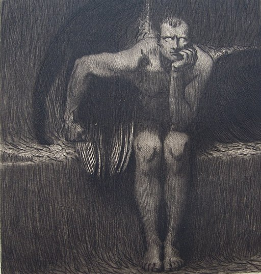 Stuck - Luzifer - ca 1890