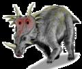 Styracosaurus BW transparent.png