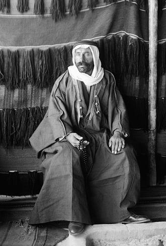 Sultan al-Atrash - Al-Atrash in the Arabian desert after the Syrian revolt