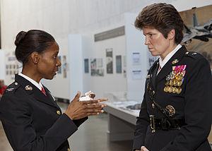 Loretta Reynolds - Reynolds talking to a U.S. Marine colonel in June 2014.