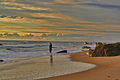 Sunset Seduction - fishing Gay Head beach in town of Aquinnah, Martha's Vineyard.JPG