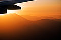 Sunset approach into Santiago de Chile, 18th. Jan. 2011 - Flickr - PhillipC.jpg