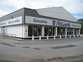 Co-op Food - Co-op supermarket in Ackworth, West Yorkshire in 1990s-2000s branding.