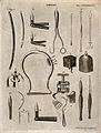 Surgical instruments. Engraving by Andrew Bell. Wellcome V0016381.jpg