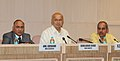 Sushilkumar Shinde addressing a Press Conference on the 16th Meeting of the National Integration Council, in New Delhi. The Union Home Secretary, Shri Anil Goswami and the ADG (M&C), PIB, Shri K.S. Dhatwalia are also seen.jpg