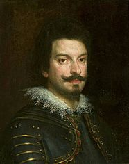 Portrait of a man in armor.