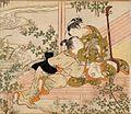 Suzuki Harunobu - Lovers on a Veranda with a Shamisen, c. 1770.jpg