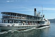 Swiss Steamboat stadt Rapperswil go