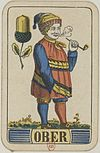 Swiss card deck - 1850 - Ober of Acorns.jpg