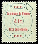 Switzerland Renens 1916 revenue 6 4Fr - 41.jpg