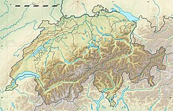 Map showing the location of Aletsch Glacier