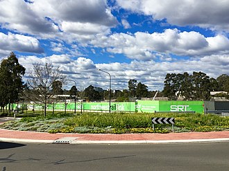 Norwest, New South Wales - Image: Sydney Metro Norwest Station worksite, August 2015