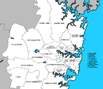 Die Local Government Areas van Sydney