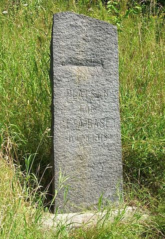Getå railroad disaster - A monument to the accident on site.