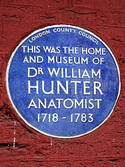 This was the home and museum of dr william hunter anatomist 1718 1783