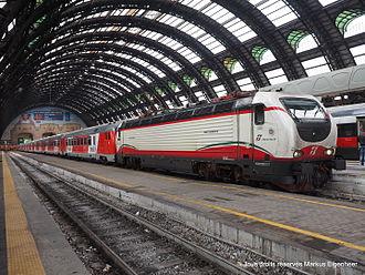 Thello - A Thello Milan-Nice train at Milano Centrale.