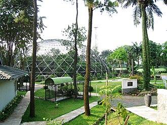 Taman Mini Indonesia Indah - Spherical cage Bird Park.