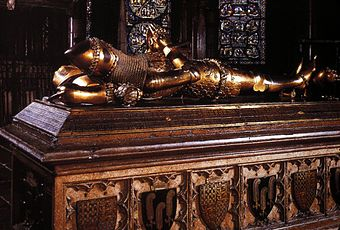Tomb in Canterbury Cathedral TOMB OF THE BLACK PRINCE, CANTERBURY CATHEDRAL.jpg