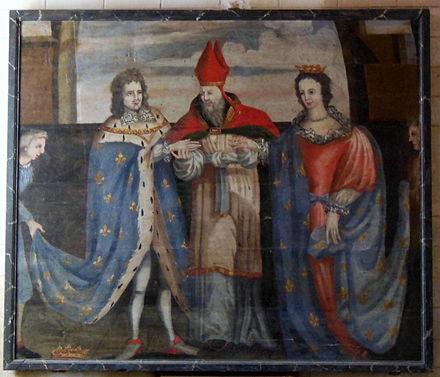 tableau reprsentant le troisime mariage du duc jean iv avec jeanne de navarre en l - Domaine De La Navarre Mariage