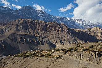 Upper Mustang - Tangbe village from above