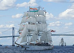INS Tarangini, the only sail ship currently in-service with the Indian Navy.