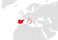 Tarentola mauritanica range map Europe.png