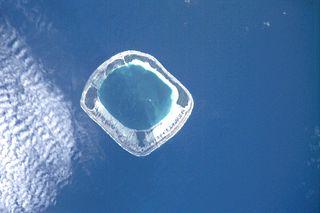Tauere island in French Polynesia