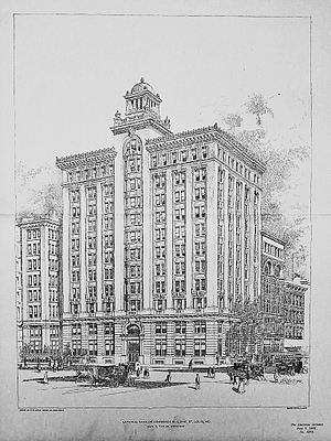 Isaac S. Taylor - Taylor's National Bank of Commerce Building, in St. Louis, 1902, one of his largest individual structures built.