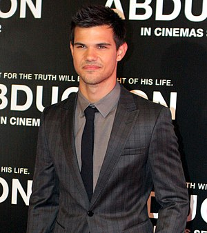 Taylor Lautner - Lautner at the Abduction premiere, 2011.