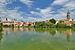 Telč - pohled na vnitřní město přes Ulický rybník.jpg