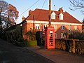 Telephone box and house in the setting sun's light - geograph.org.uk - 1623457.jpg