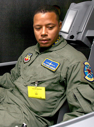 Iron Man (2008 film) - Howard preparing for the role by riding an F-16 flight simulator.