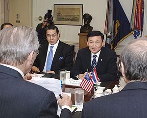 Thailand's Prime Minister :en:Thaksin Shinawat...