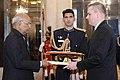 The Ambassador Designate of the Republic of Poland, Mr. Adam Burakowski presenting his credentials to the President, Shri Ram Nath Kovind, at Rashtrapati Bhavan, in New Delhi on December 22, 2017.jpg