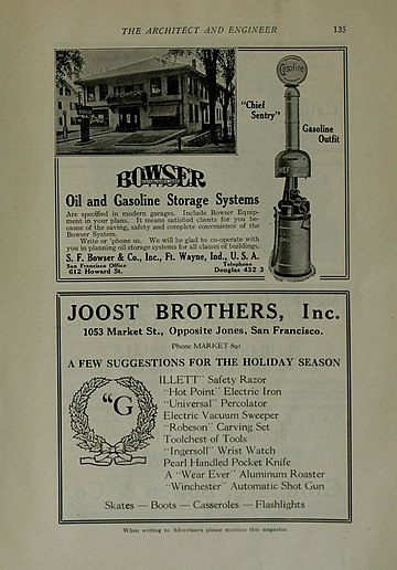 1917 advertisement of S. F. Bowser & Co.