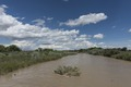The Arkansas River, swollen by heavy spring rains in 2015, in rural Crowley County, Colorado LCCN2015632776.tif