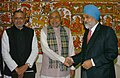 The Chief Minister of Bihar, Shri Nitish Kumar meeting with the Deputy Chairman, Planning Commission, Dr. Montek Singh Ahluwalia to finalize Annual Plan 2008-09 of the State, in New Delhi on January 30, 2008.jpg